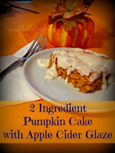 2 Ingredient Pumpkin Cake 225x300 2 Ingredient Pumpkin Cake with Apple Cider Glaze