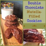 Double Chocolate Nutella Filled Cookies