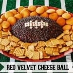 Football red velvet cheese ball 150x150 Superbowl Party Recipes and Tips