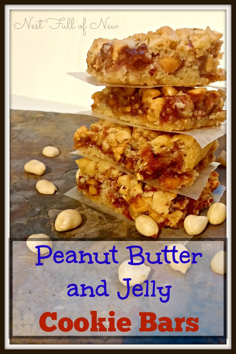 Peanut Butter and Jelly Cookie Bars - Nest Full of New